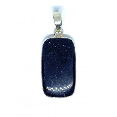 Modrý pieskovec strieborný prívesok 0004