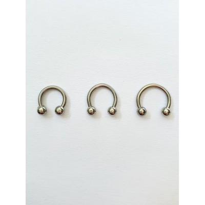 Piercing do bradavky,nosa,pery,ucha,podkovička 12mm-0005