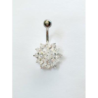 Strieborný piercing do pupka 0022