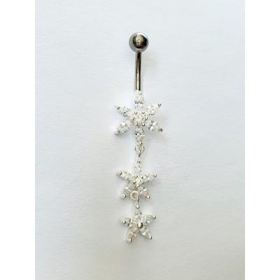 Strieborný piercing do pupka  0029
