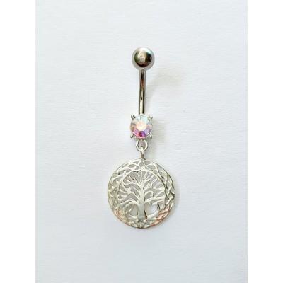 Strieborný piercing do pupka 0030