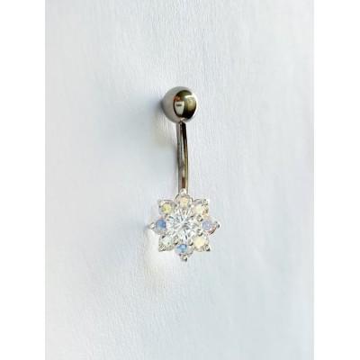 Strieborný piercing do pupka 0033