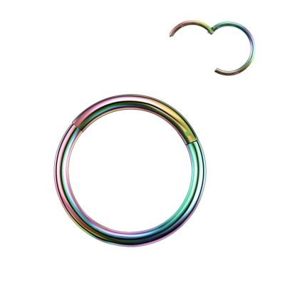 Piercing krúžok do ucha, nosa- farebný 1,2 mm 0010