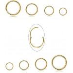 Piercing krúžok do nosa, ucha - zlatý 1,2 mm 0004