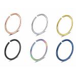 Piercing krúžok do ucha, nosa- zlatý 0,8 mm 0014
