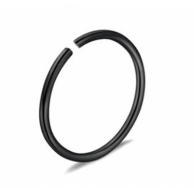 Piercing krúžok do ucha, nosa- čierny 0,8 mm 0013