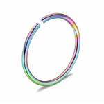 Piercing krúžok do ucha, nosa- farebný 0,8 mm 0011