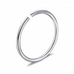 Piercing krúžok do ucha, nosa- strieborný 0,8 mm 0012