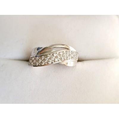 Zlatý prsteň 0001 biele zlato 585/1000