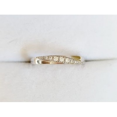 Zlatý prsteň 0002 biele zlato 585/1000