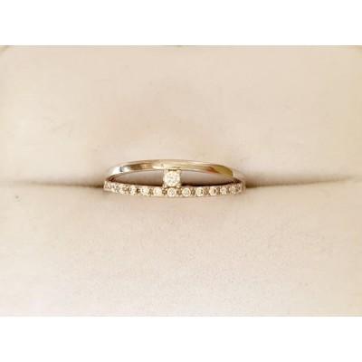 Zlatý prsteň 0003 biele zlato 585/1000