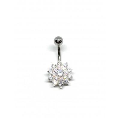 Strieborný piercing do pupka 0001