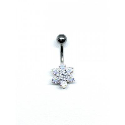 Strieborný piercing do pupka 0002