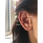 Piercing krúžok do nosa, ucha - zlatý 0,8 mm 0006